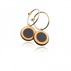 Ohrring Circle schwarz