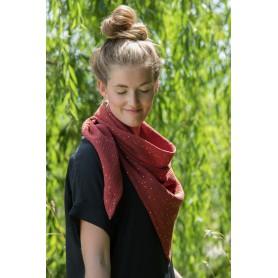 Schal aus reiner Öko-Tex® Baumwolle - Ziegel Rot