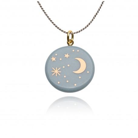 Halskette Mond und Sterne