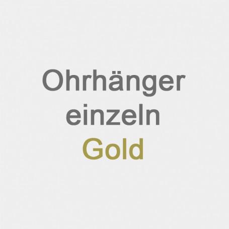 Ohrhänger einzeln Gold