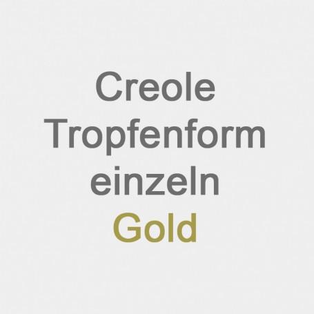 Creole Tropfenform einzeln Gold
