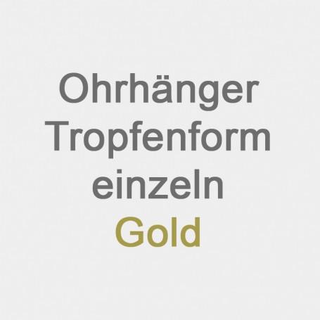 Ohrhänger Tropfenform einzeln Gold