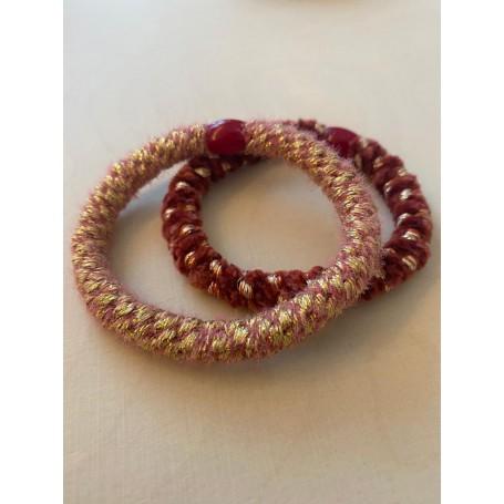 Haargummi Set rosa & rot